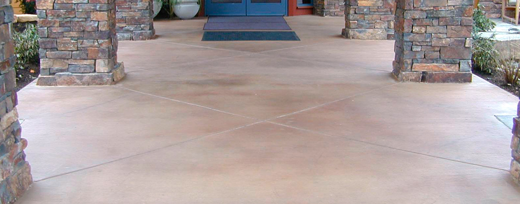 -Smooth concrete floor