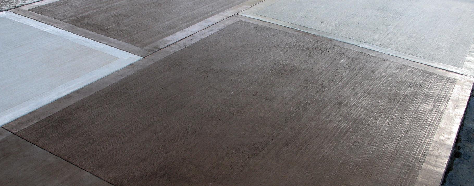 -Non-slip concrete floor