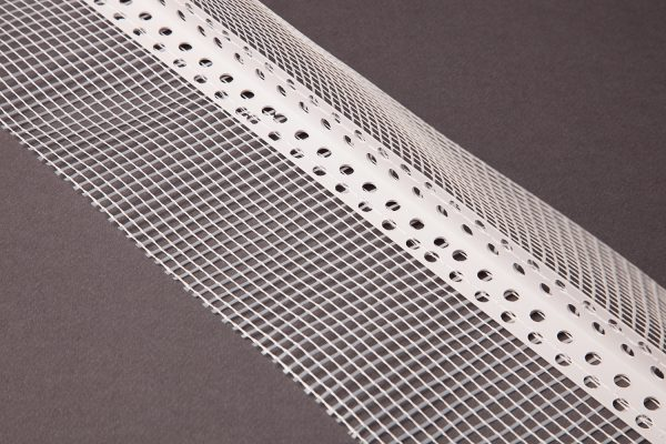cantonera de pvc con malla de fibra de vidrio