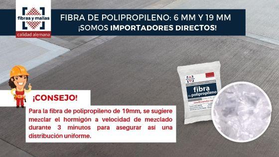 Fibra de Polipropileno 6mm y 19mm Somos Importadores Directos